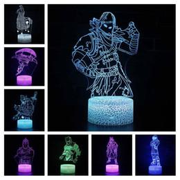 Sleep Lights Australia - Fortress Sleep 3d Illusion Projection Lamp Battle Royale Raven Black Knight Figure Night Light Kids Luminous Toys Q190611
