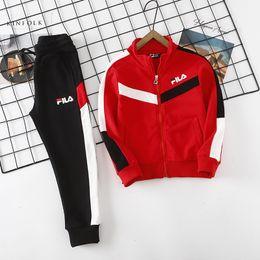 Korean clothes sport online shopping - Korean Boys Autumn Suit New Kids Handsome Spring Autumn Boys Fashion Clothes Leisure and Loose Sports Suit