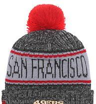 custom knit beanies NZ - 2019 Unisex Autumn Winter hat Sport Knit Hat Custom Knitted Cap Sideline Cold Weather Knit hat Warm SAN FRANCISCO SF 49 Beanie Skull Cap 03