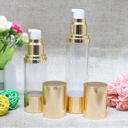 Tool Aluminium Australia - Gold 30ml 50ml Aluminium Oxide Airless Bottle Makeup Tools High-grade Travel Lotion Cosmetic Container 10pcs lot