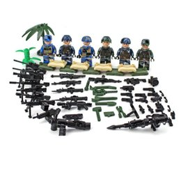 bricks toys army 2019 - 6pcs set Military Special Training Army Building Blocks Sets Models Bricks Figures Kits Toys Children Gift
