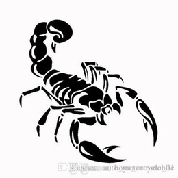 flowers reflective stickers Canada - Scorpion Car Stickers Car Pull Flowers Front and Rear Bumper Reflective Scorpion Stickers