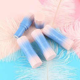 Discount pink tube lips - Gradient Pink Blue Empty Lipstick Tubes DIY Lip Plumper Lip Care Containers Travel Cosmetic Refillable Bottle 20pcs lot
