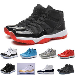 buy popular dbef9 5a75e 11 UNC 11s Prom Night Concord Space Jam Confiture Gamma Bleu Midnight Navy  Rétro Hommes Chaussures de Basketball XI Bred Sport Baskets Taille 13 retro  ...