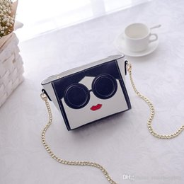 cell phone faces Australia - 2017 new female package Korean version of smiling face digital printing shoulder Messenger bag chain small bag
