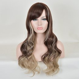 ee294909f Details about CHEAP WIGS Gray Dark Blonde Highlight Fashion caramel Curly  Wave Hair Long Wig