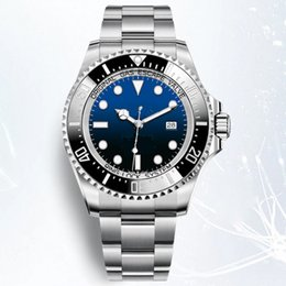 Discount 44mm watches - Hot sale men watch 44mm SEA-DWELLER 126660 automatic watch Ceramic bezel Stainless steel watches Glide lock clasp 2813 m