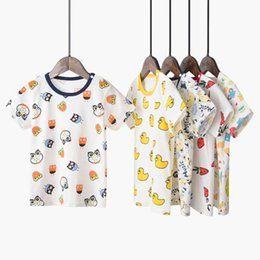 $enCountryForm.capitalKeyWord Australia - 2019 new cotton children's clothing summer boys and girls female cartoon compassionate t-shirt ins round neck short sleeve