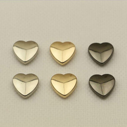 $enCountryForm.capitalKeyWord Australia - Heart Rivet Screw For Bags Hardware Handbag Decorative Studs Button Nail Metal Buckles Snap Hook Leather Craft