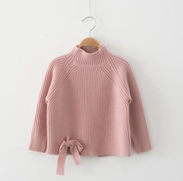 $enCountryForm.capitalKeyWord Australia - Kids Sweater Winter Warm Wool Cottons Children Clothing Tops Boys Girls Clothes Long Sleeve T shirt Bowknot Pullovers