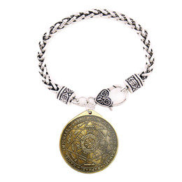 $enCountryForm.capitalKeyWord UK - HY002 Trade assurance Vintage Vintage Series bangle Disc Compass religious Charm bracelet plating gold European And American Men's Jewelry