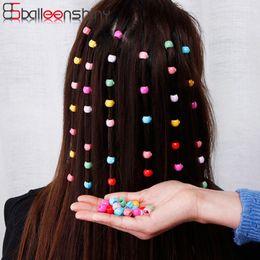 $enCountryForm.capitalKeyWord Australia - Balleenshiny 20pcs Hair Pins for Kids Colored Small Sugar Beans Grab Clip Braided Hair Clip Side Clip Baby Girl Hair Accessories