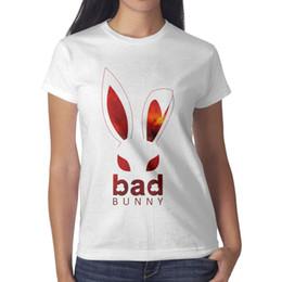 Logo Design Art NZ - Bad Bunny Logo art white t shirt,shirts,t shirts,tee shirts shirt design graphic crazy band casual t shirt