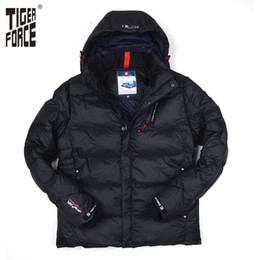 jacket tiger Australia - TIGER FORCE 2017 New Arrival Men Winter Jacket Fashion Padded Cotton Coat Thick Polyester Jacket Parka Downsulate Free Shipping