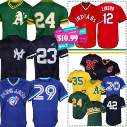 Discount francisco lindor jersey - Athletics Jerseys 24 Rickey Henderson Oakland Indians 12 Francisco Lindor Joe Carter 19 Robin Yount Alomar Donaldson Mat