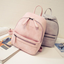 8ea23d32ca Free shipping 2019 New Fashion Small Fresh College Wind Mini Shoulder Bag  High Quality Soft Surface Pu School Bag Female Bag Women Backpack