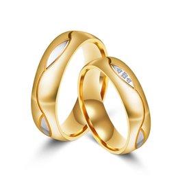 $enCountryForm.capitalKeyWord Australia - Popular classic style star street patting titanium steel micro set couple ring gilt set three diamond ring