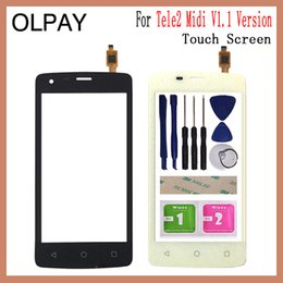 Free Touch Screen Phones Australia - OLPAY 4.5'' Mobile Phone Touch Screen Digitizer For Tele2 Midi V1.1 1.1 Versions Touch Glass Sensor Tools Free Adhesive+Wipes