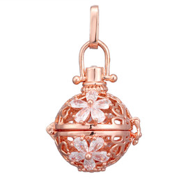 $enCountryForm.capitalKeyWord UK - Crystal Flower Mexican Chime Ball Angel Ball Perfume Diffuser Pregnant Pendant For Women Gift