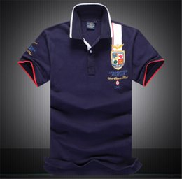 eagle polo shirts NZ - Brand Men's Polo Shirts Lapel Short Sleeved T-Shirts Hot Seller Embroider Eagle Pattern Soft Dacron Polos