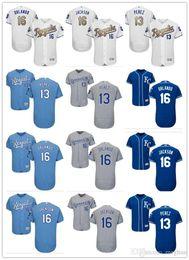 f2a3fcc37 custom Men Women Youth Majestic KC Royals Jersey  16 Paulo Orlando 16 Bo  Jackson 13 Salvador Perez Home Nary Blue Baseball Jerseys
