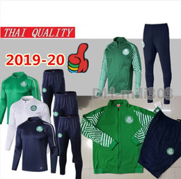 football suits 2019 - 2019 Palmeiras soccer jacket tracksuit Survetement set 19 20 GREEN DUDO G.JESUS ALECSANDRO Palmeiras football jacket kit