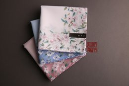 Cotton Cherry Australia - Women's handkerchief cotton sweat-absorbent handkerchief absorbs romantic cherry blossom