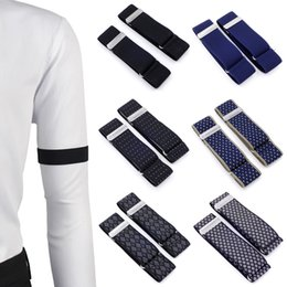 $enCountryForm.capitalKeyWord Australia - New Fashion 1 Pair Mens Shirt Adjustable Armband Sleeve Garter Bartender Cuff Holder Elastic Metal Arm Band Hold Up