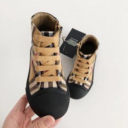 Boys design shoes online shopping - kids shoes classic design boys and girls luxury designer sneakers casual shoes Genuine Leather childrens sports shoes Popular top brands