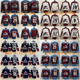 Blank red online shopping - 2019 Stitched adlads Colorado Avalanche Blank DUCHENE SAKIC MACKINNON LANDESKOG Red Ice Hockey Jerseys Men Women Youth