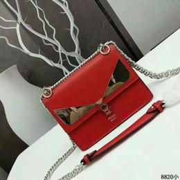 8820 Fashion show leather handbag metal chain long shoulder strap women red  Chain Flap Bag HANDBAGS SHOULDER MESSENGER BAGS TOTES ad787558d1c8a