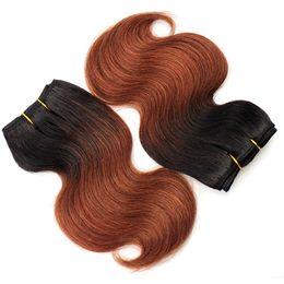 $enCountryForm.capitalKeyWord UK - 4Pcs 200g Brazilian Ombre Short Hair Extensions 8inch T1B 33 Body Wave Human Hair 2019 Trendy Bob Hairstyles for African Women