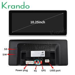 Audi Car Mp3 Australia - Krando Android 8.1 10.25'' car multimedia player radio GPS for Audi Q7 2009-2015 navigation system audio player stereo wifi car dvd KD-AD95