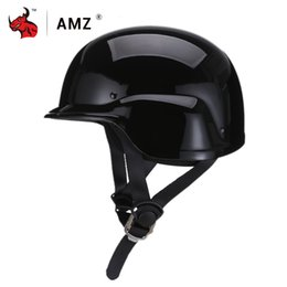 german motorcycle helmet Australia - AMZ Motorcycle Helmet Half Face Retro Moto Helmet Protection Gear Vintage German Style Casco Casque Scooter Helmets #