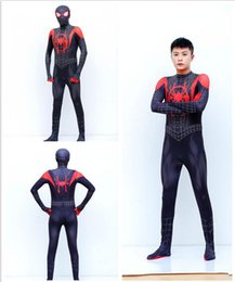$enCountryForm.capitalKeyWord NZ - Spiderman and Parallel Universe New Age Little Black Spider Anime Tights Adult Cosplay Costume Children's Clothes