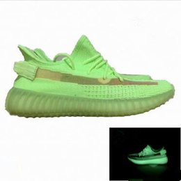 Volleyball shoes women online shopping - 2019 V2 Kanye West True Form Clay Static Green Tint Beluga Zebra Cream Running Shoes Men Women Designer Sneakers