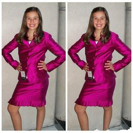$enCountryForm.capitalKeyWord Australia - Slim Custom Two Pieces Formal Girls Pageant Dresses Knee-Length Long Sleeves Jacket Girls Interview Suit Party Dresses Teenager Custom Plus