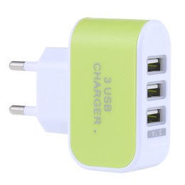 3 USB Ports Coloured Multifunctional 5V 3.1A Universal Travel Charger Adapter with LED light on Sale