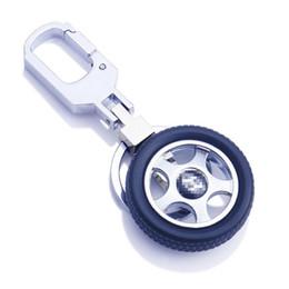 Character Flashlight Australia - Factory direct rotatable tire key chain logo creative key chain high quality car car key chain