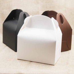 $enCountryForm.capitalKeyWord Canada - 10pc lot Large Kraft Paper box gifts With Handle Wedding  candy White Cardboard Cake Box black Cupcake Box for Package gifts