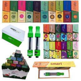Vape pen Vaporizer online shopping - Green Smart Cart Vape Cartridge Packaging ml Ceramic Smartbud Oil Dab Pen Wax Vaporizer Empty Cartridges E Cigarette Thread Battery