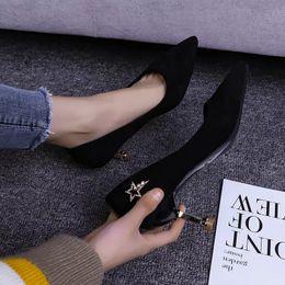 $enCountryForm.capitalKeyWord Australia - 2019 Spring New Sharp High Heels Female Fine Heels Red Sexy Black Hundred Professional Shoes Cat Shoes