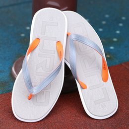 Discount america sandal - 2019 America absorption flat with men's flip-flops summer wear-resistant sandals slippers slippery non-slip shoes t