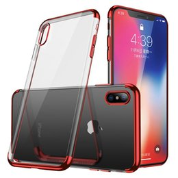 $enCountryForm.capitalKeyWord NZ - For iPhone X XS Max XR 78 Plating Soft Clear TPU Case Silicone Transparent Gel Cover Phone For Samsung S10 PLUS S10e S9
