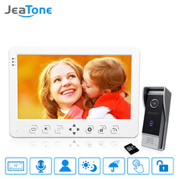 $enCountryForm.capitalKeyWord Australia - JeaTone 10 inch Video Door Phone Doorbell Intercom System Touch Key Monitor+1200TVL Call Button+16G Card Motion Detection Voice Message