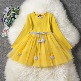 Wholesale Embroidered girl s princess dresses Belt accessory star gauze skirt hot sales cm cm size ball gown dress RA114491