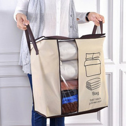 Space Bedding Australia - 1pcs Portable Foldable Large Size Non-woven Clothes Quilts Storage Bag Home Save Space Organizer Bags for Pillow Blanket