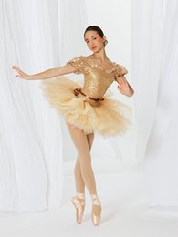 adult ballet costumes 2020 - Professional Ballet Dance Clothes Female Dress Exquisite Stage Performance Clothing Costumes Ballet Professional Tutu fo
