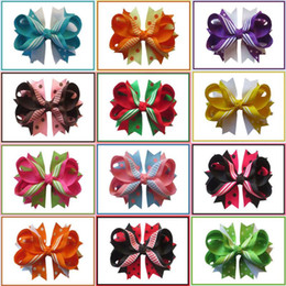 hair flowers clips orchid UK - 20pcs Hand Customize made of 3 8 and 7 8grosgrain ribbons hot sale Bohemia Orchid Peony Flowers Hair Clip Hairpin CorsageFashio