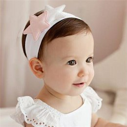 Cotton Costs NZ - Warm soft cute star ornaments pure cotton 0-4 year-old baby headwear high-quality hairband, free of transportation costs